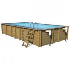 Сборный деревянный бассейн Odyssea Прямоугольный 8x3, Высота: 146 см