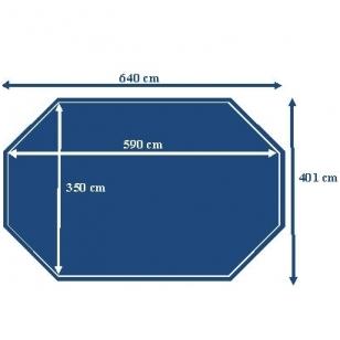 Surenkamas medinis baseinas Odyssea Octo+ 640, Aukštis: 133 cm