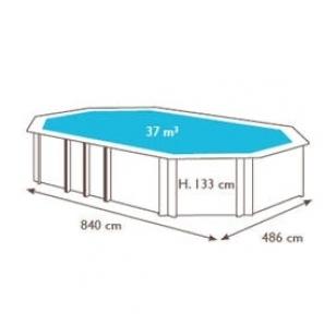 Surenkamas medinis baseinas Odyssea Octo+ 840, Aukštis: 133 cm