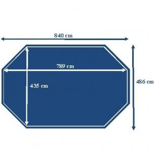 Surenkamas medinis baseinas Odyssea Octo+ 840, Aukštis: 146 cm