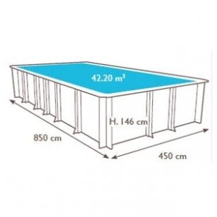 Surenkamas medinis baseinas Odyssea Stačiakampis 8x4, Aukštis: 146 cm