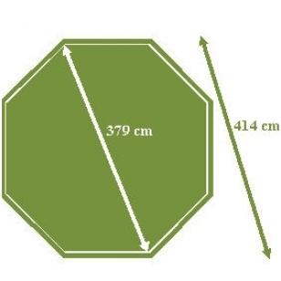 Surenkamas medinis baseinas Tropic Octo 414