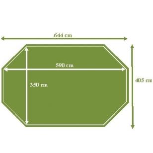 Surenkamas medinis baseinas Tropic Octo+ 640