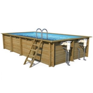 Surenkamas medinis baseinas Weva Stačiakampis 6x3, Aukštis: 133 cm