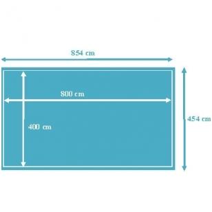 Surenkamas medinis baseinas Weva Stačiakampis 8x4, Aukštis: 146 cm