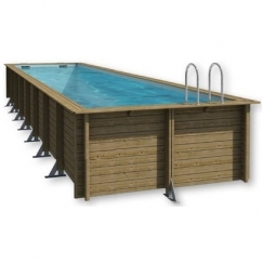 Surenkamas medinis baseinas Weva Stačiakampis 12x3, Aukštis: 146 cm