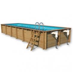 Surenkamas medinis baseinas Weva Stačiakampis 12x4, Aukštis: 146 cm