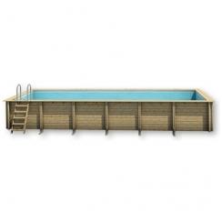 Surenkamas medinis baseinas Weva Stačiakampis 9x3, Aukštis: 133 cm