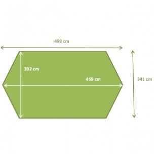 Surenkamas medinis baseinas Tropic Octo+ 510