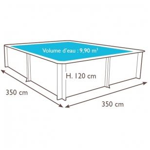 Surenkamas medinis baseinas Weva Carre 3x3 - 120