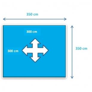 Surenkamas medinis baseinas Weva Square 3x3 - 120